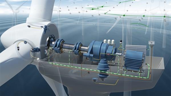 상태 모니터링 시스템에는 가속도 센서가 7개 포함되어 있으며, 이 센서는 풍력 터빈의 드라이브에 설치됩니다.