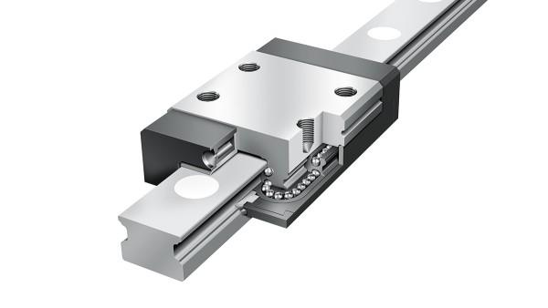 셰플러 리니어 가이드(linear guides): 4열 미니어처 리니어 볼 베어링(four-row miniature linear ball bearing)과 가이드웨이 어셈블리(guideway assemblies)
