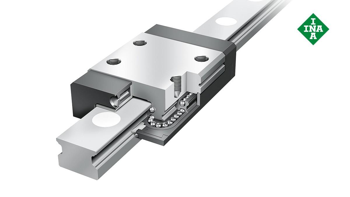 셰플러 리니어 가이드(linear guides): 미니어처 리니어 볼 베어링 (Miniature linear ball bearing)과 가이드웨이 어셈블리 (guideway assemblies)