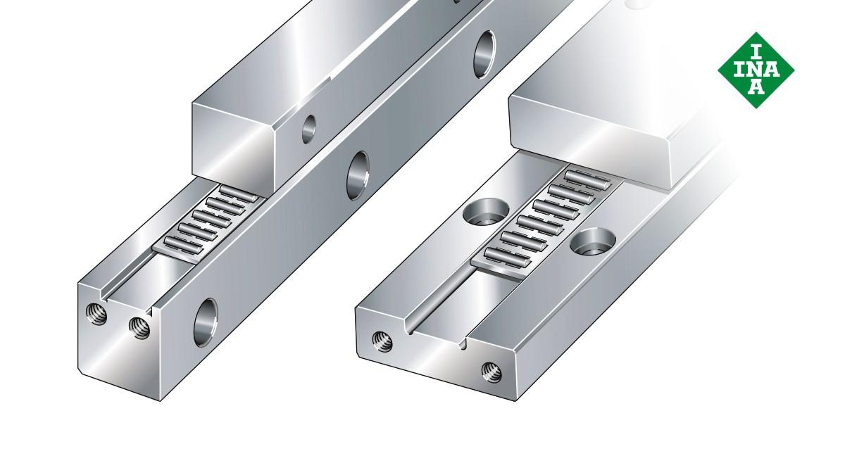 셰플러 리니어 가이드(linear guides): 니들 롤러 플랫 케이지가 있는 J 및 S 가이드웨이(J and S guideways with needle roller flat cage)