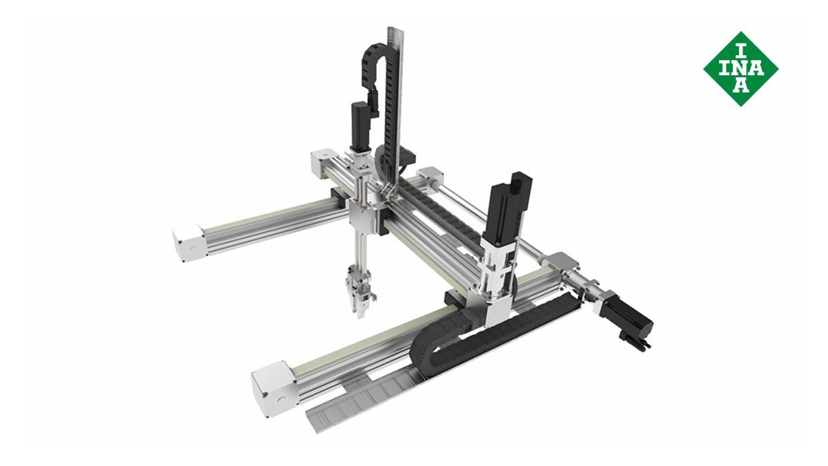 셰플러 리니어 가이드(linear guides): 다축 위치결정 시스템(Multi-axis positioning systems)