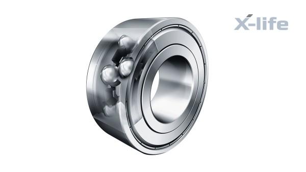 구름 베어링과 플레인 베어링: 복열 앵귤러 콘택트 볼 베어링 (Double-row angular contact ball bearings)
