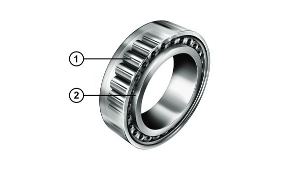 최적화된 턱(rib) 접촉의 원통 롤러 베어링 (Cylindrical roller bearings)