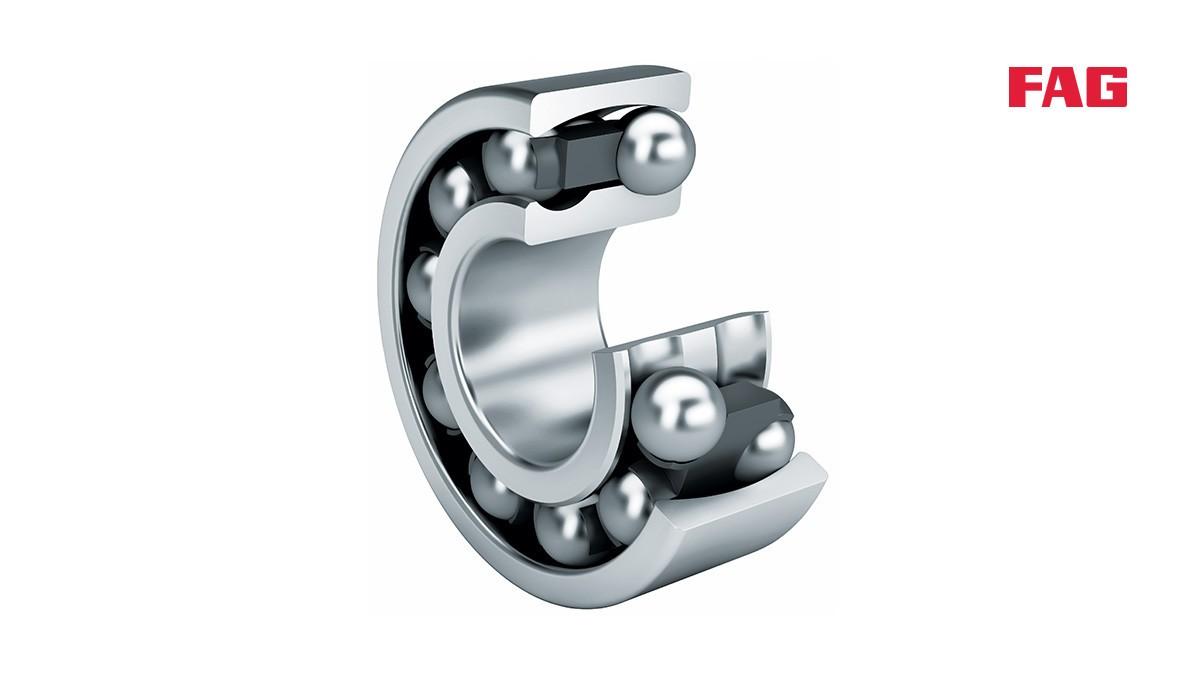 셰플러 구름 베어링과 플레인 베어링: 자동 조심 볼 베어링(Self-aligning ball bearings)