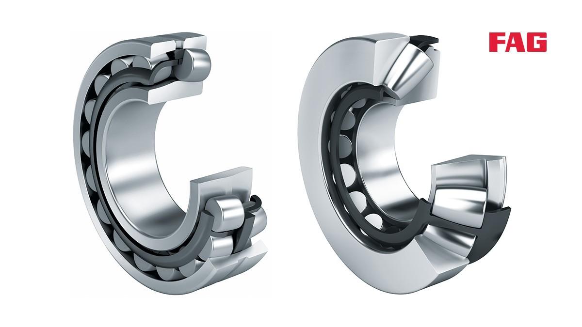 셰플러 구름 베어링과 플레인 베어링: 스페리컬 롤러 베어링 (Spherical roller bearings)