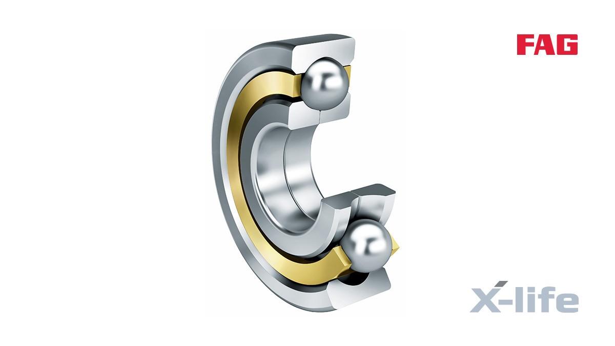셰플러 구름 베어링과 플레인 베어링: 4점 접촉 볼 베어링 (Four-point contact ball bearings)