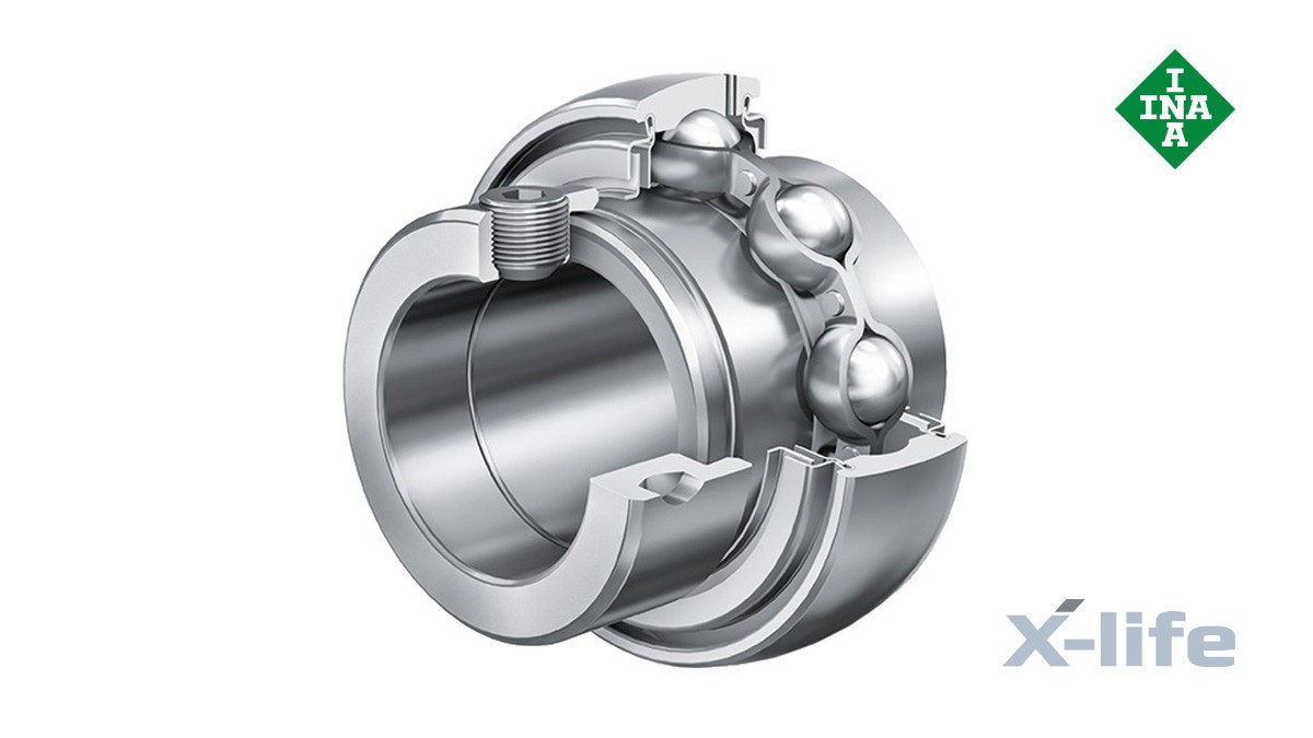 셰플러 구름 베어링과 플레인 베어링: 레이디얼 인서트 볼 베어링 (Radial insert ball bearings)