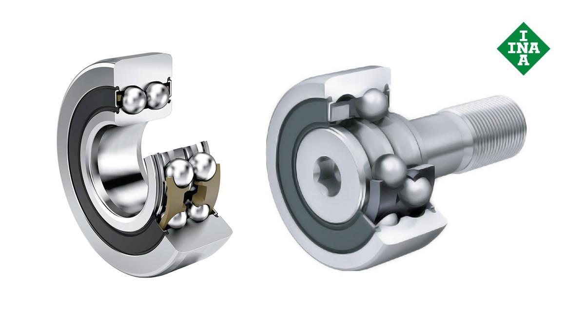 셰플러 구름 베어링과 플레인 베어링: 트랙 롤러(Track rollers), 백업 롤러(backup rollers), 캠 롤러(cam rollers)